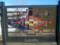Central - Broadway bridge in Northeast Minneapolis showing Lakota design element